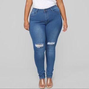 fashion nova ripped 3x plus size JEANS